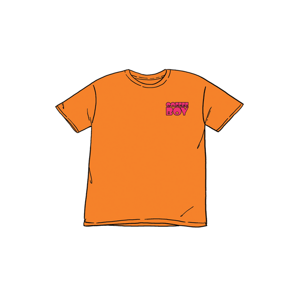 Coffee Boy Tee | Orange