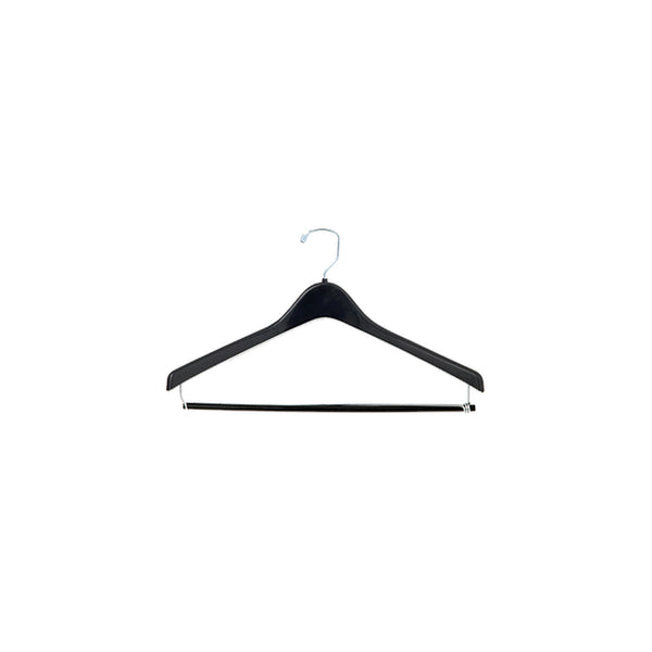 "17"" Plastic Hanger w/ Locking Pant Bar"