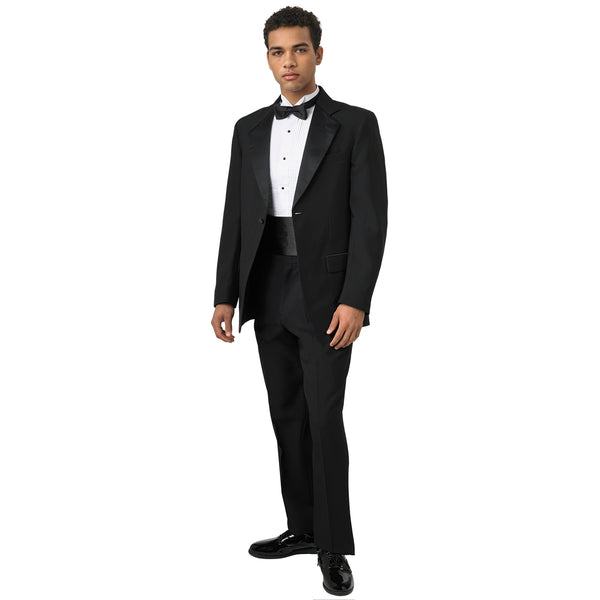 1-Button Notch Lapel Tuxedo Coat- Mens & Boys