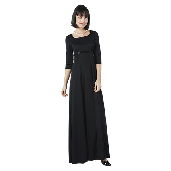Empire Large Scoop 3/4 Sleeve Knit Dress (Adult & Youth)