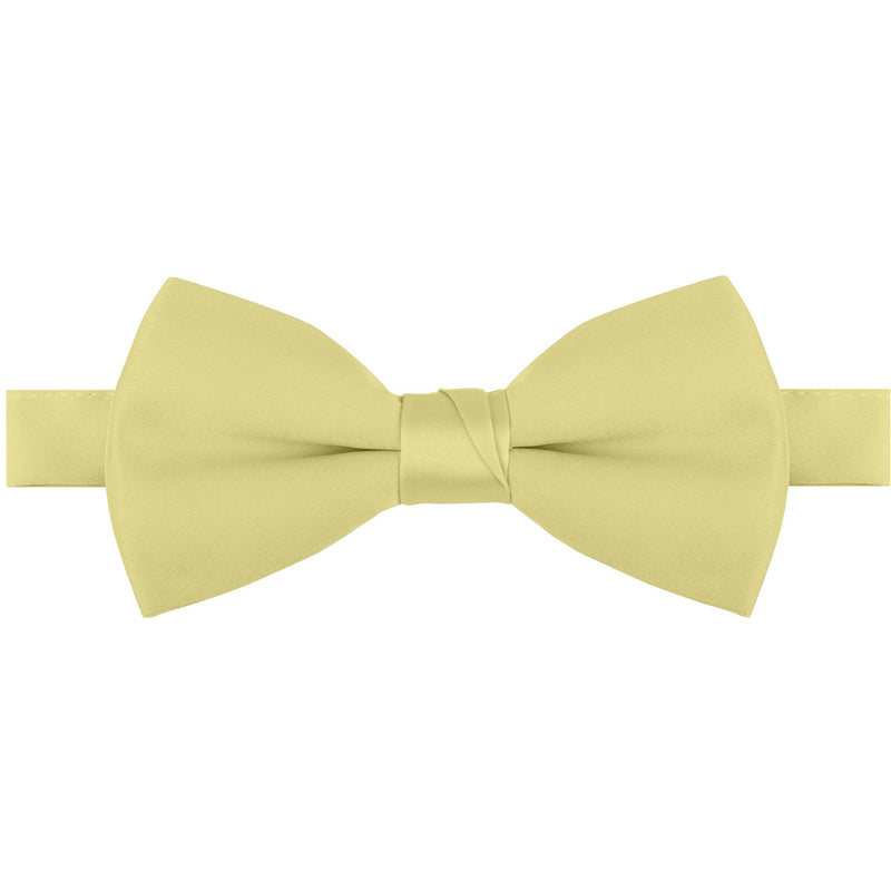 Polyester Satin Bow Tie - Banded or Clip-On - 26 Colors