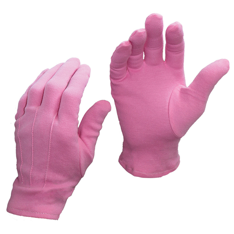PINK Short Wrist Cotton Gloves