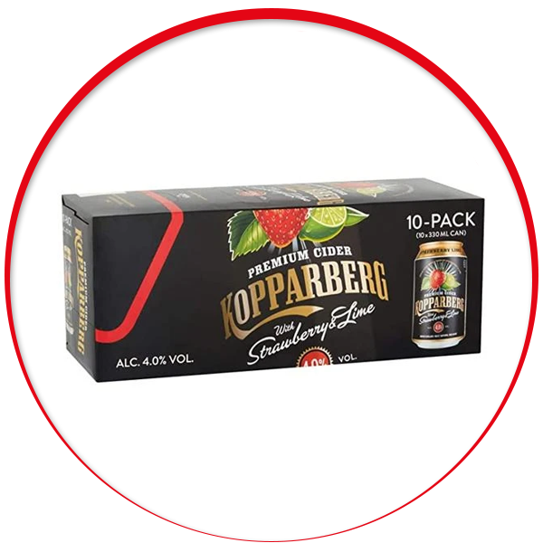 Kopparberg Strawberry & Lime 10 x 330ml