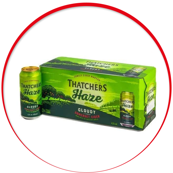 Thatchers Haze 10 x 440ml