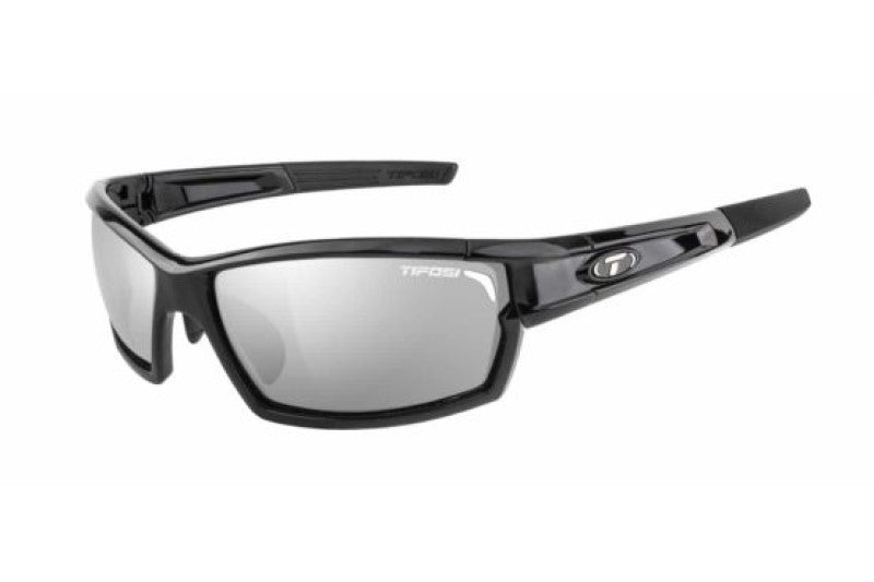 Tifosi Camrock Gloss Black | Cycling Glasses Australia | Photochromic Cycling Glasses with Sports Readers