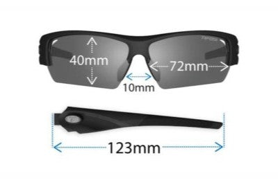 Tifosi Jet FC Gloss Black | Cycling Glasses Australia | Photochromic Cycling Glasses with Sports Readers