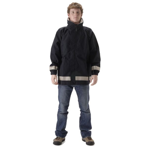 NASCO FR MP3 NAVY RAIN JACKET