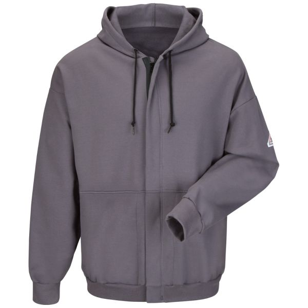 BULWARK FR ZIP-FRONT HOODED SWEATSHIRT