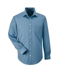Men's Solid Stretch Twill Shirt in Slate Blue