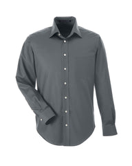 Men's Solid Stretch Twill Shirt in Graphite