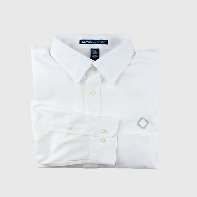 Copy of Men's Solid Stretch Twill Shirt in White