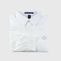 Men's Solid Stretch Twill Shirt in White