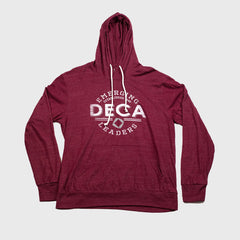 Lightweight Hooded Tee in Maroon