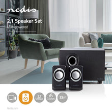 Load image into Gallery viewer, Nedis PC speaker 2.1 33 W 3.5mm Jack