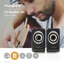 Load image into Gallery viewer, Nedis PC speaker 2.0 18 W 3.5mm Jack