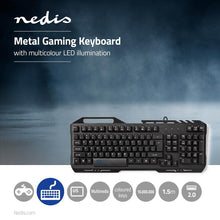 Load image into Gallery viewer, Nedis Gaming Keyboard RGB Illumination USB 2.0