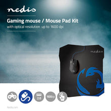 Load image into Gallery viewer, Nedis Gaming Mouse & Mouse Pad Set