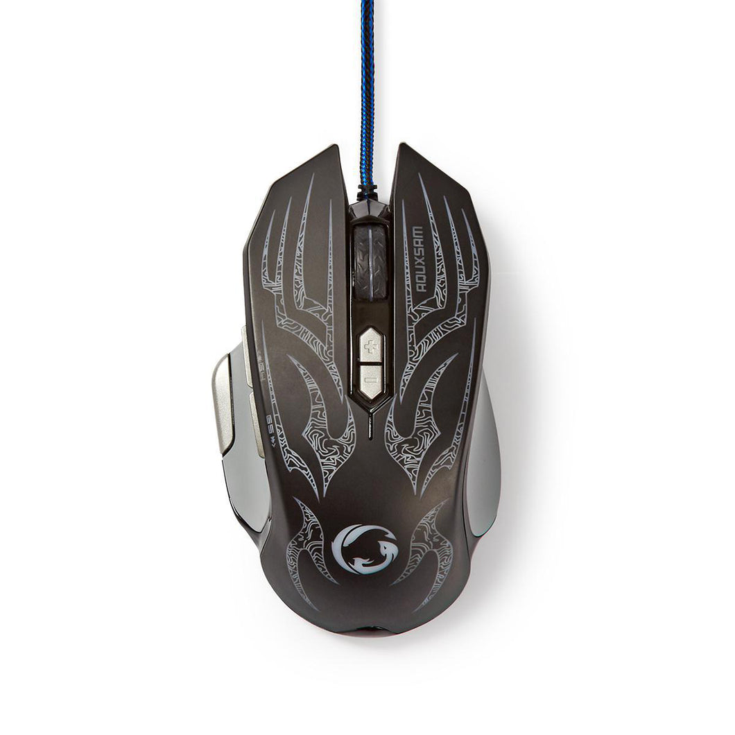 Nedis Gaming Mouse Wired Illuminated 4000 DPI