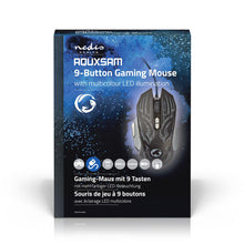 Load image into Gallery viewer, Nedis Gaming Mouse Wired Illuminated 4000 DPI