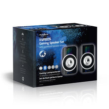 Load image into Gallery viewer, Nedis Gaming Speakers  2.0 RGB USB powered 3.5mm jack 30 W
