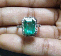 14K Gold Zambian Emerald Ring