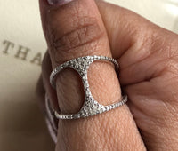 Diamond pave band ring sterling silver statement ring rings