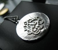 Sterling Silver Allah coin lire necklace