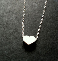 Love Glow II Silver edition sweet tiny hear necklace Valentines day