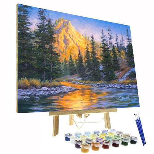 paint by numbers kit mountain landscape canada