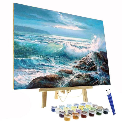 waves ocean paint by numbers kit canada