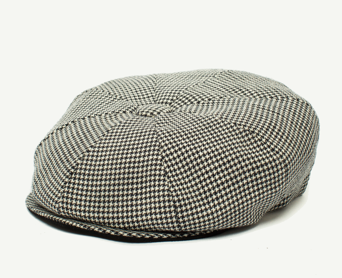 Checkered Grey 8 Panel Gatsby