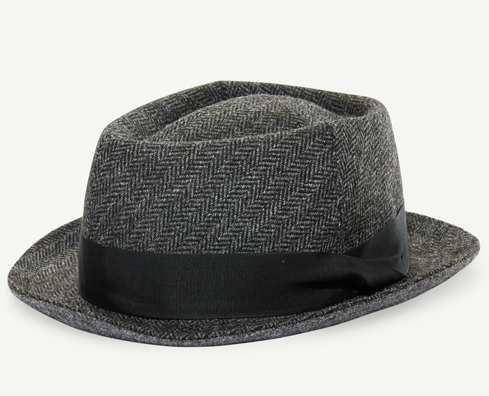Charcoal Tweed Fedora