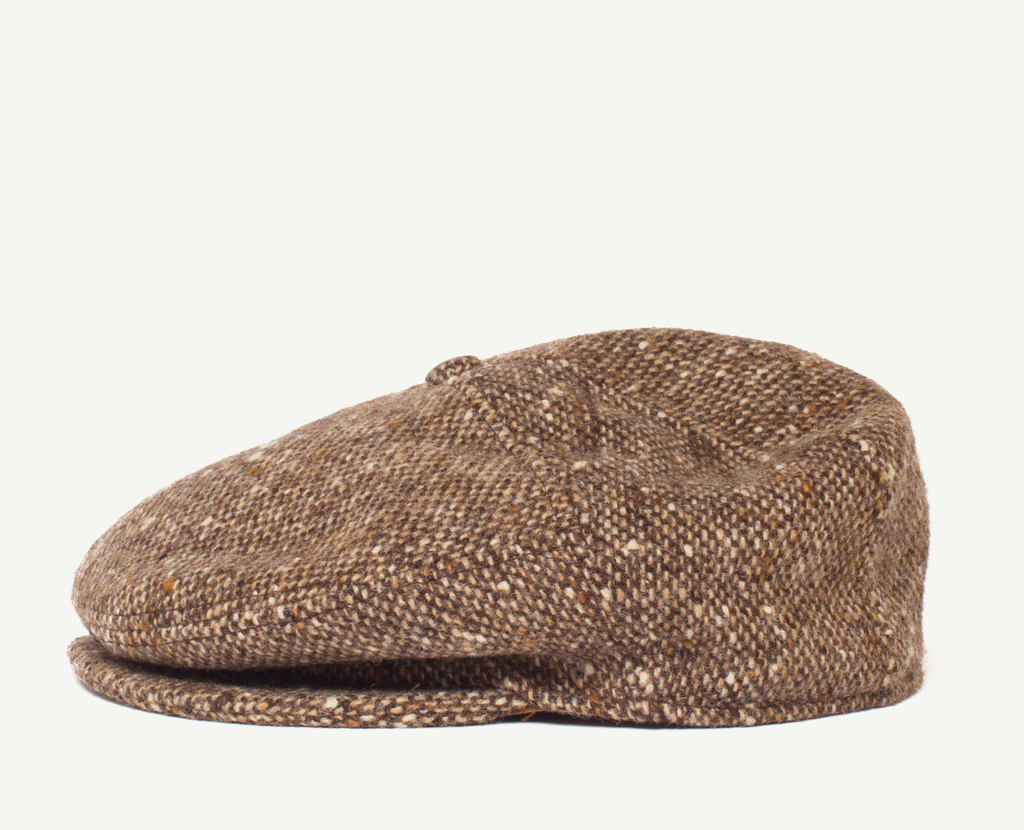 Brown Tweed Flatcap