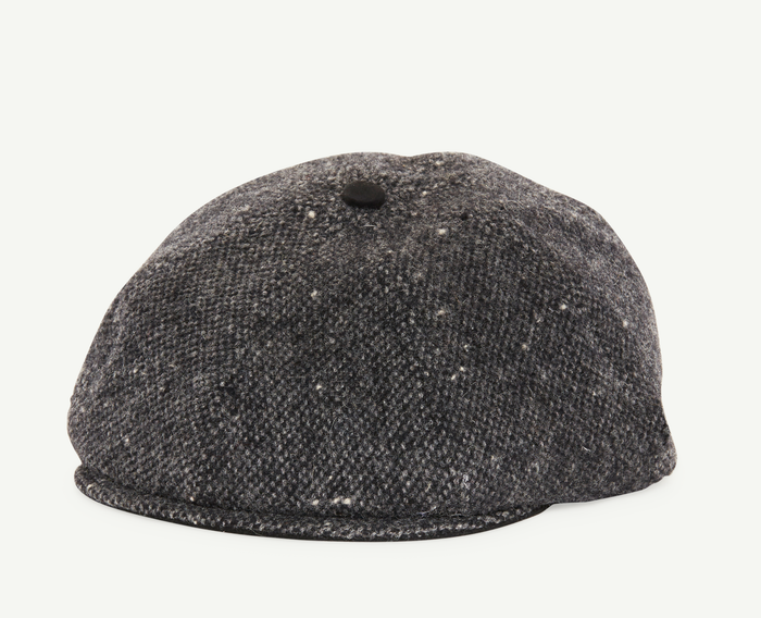Charcoal Grey Tweed Flatcap
