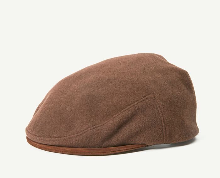 Brown Flatcap w/Leather Adjustment Strap