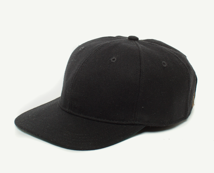 Black 6 Panel Baseball Cap
