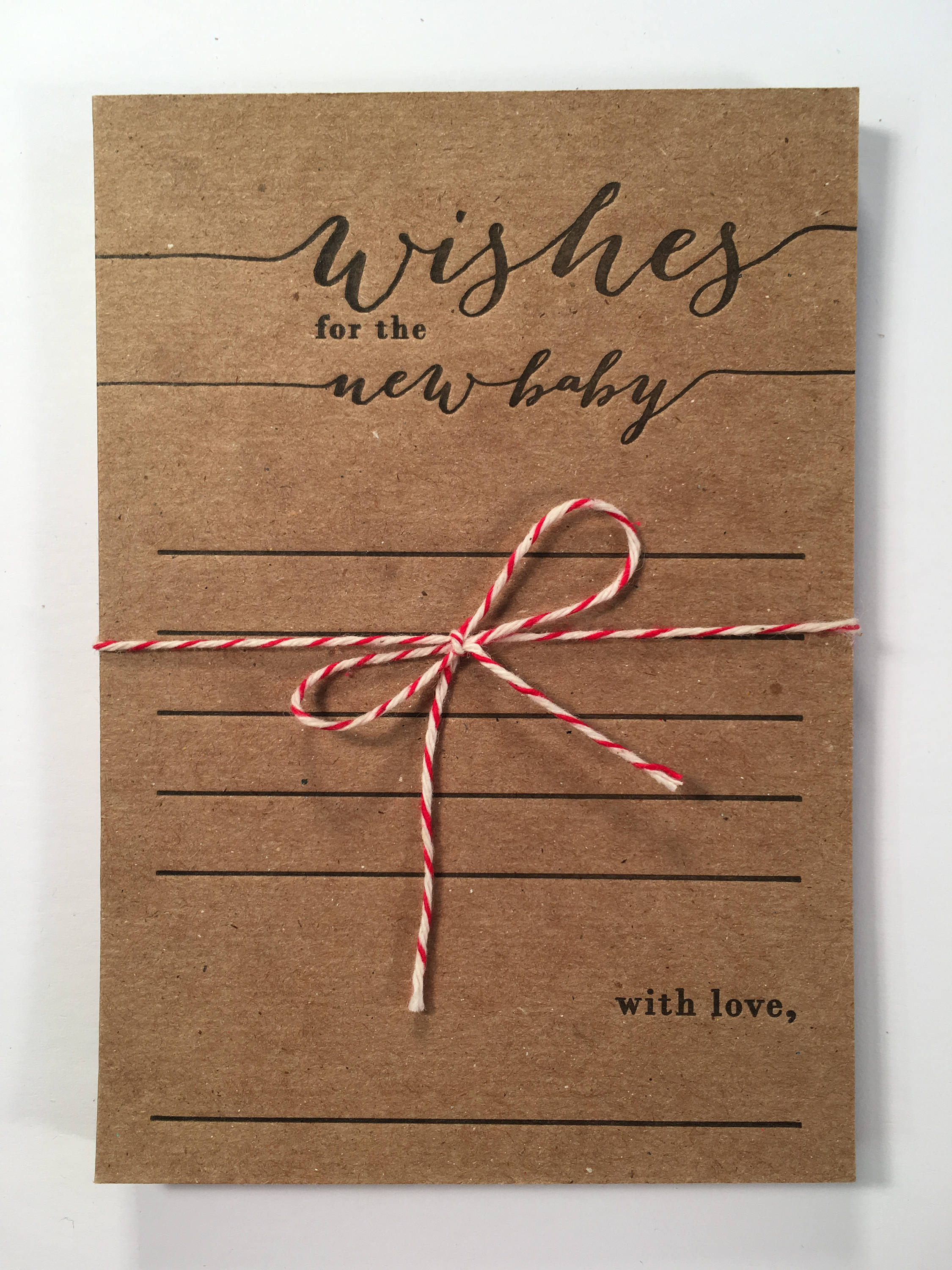 Wishes For The New Baby Letterpress Note Cards