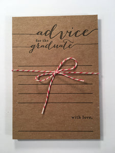 Advice For The Graduate Letterpress Note Card Set