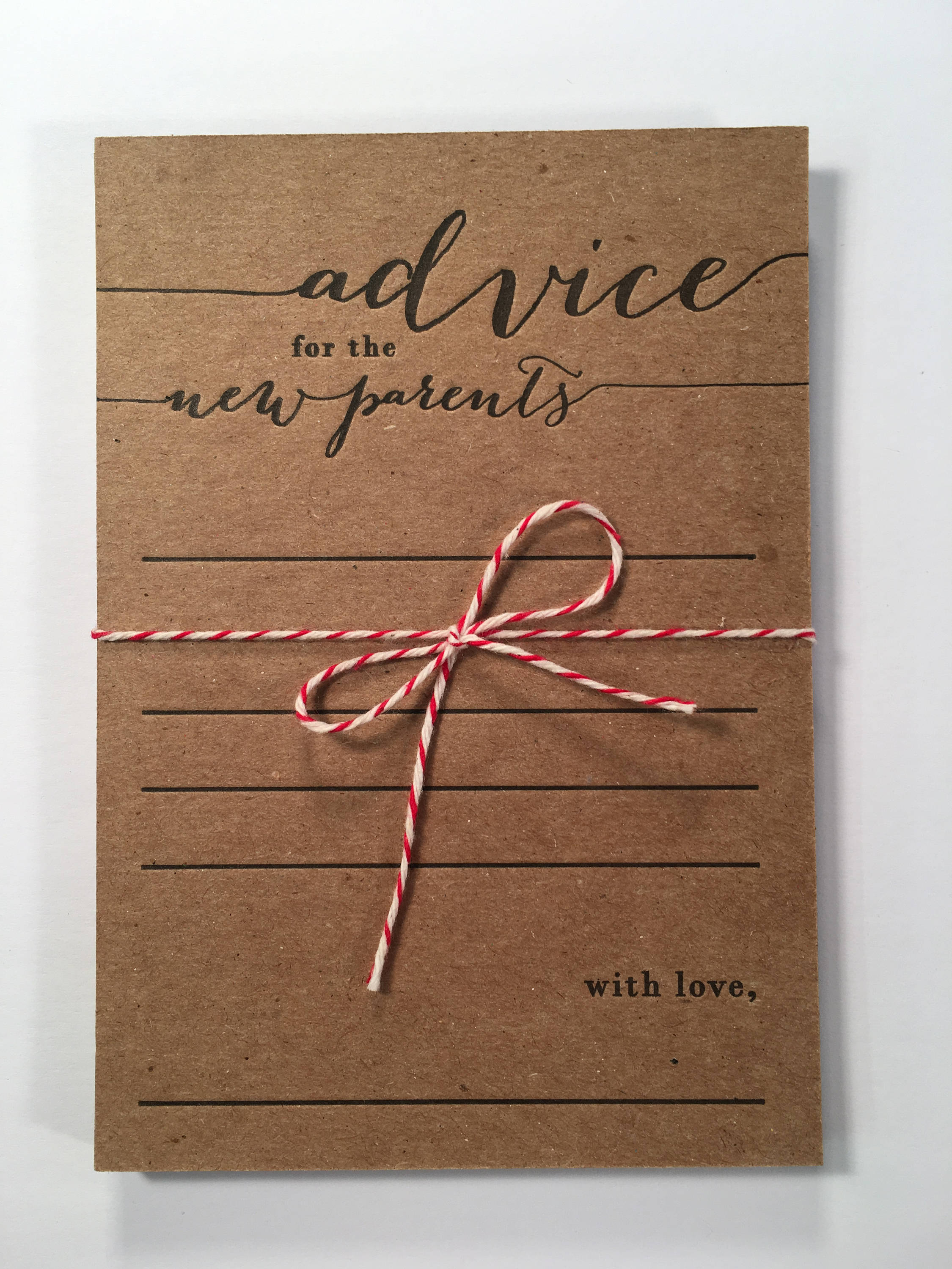 Advice For The New Parents Letterpress Note Card Set