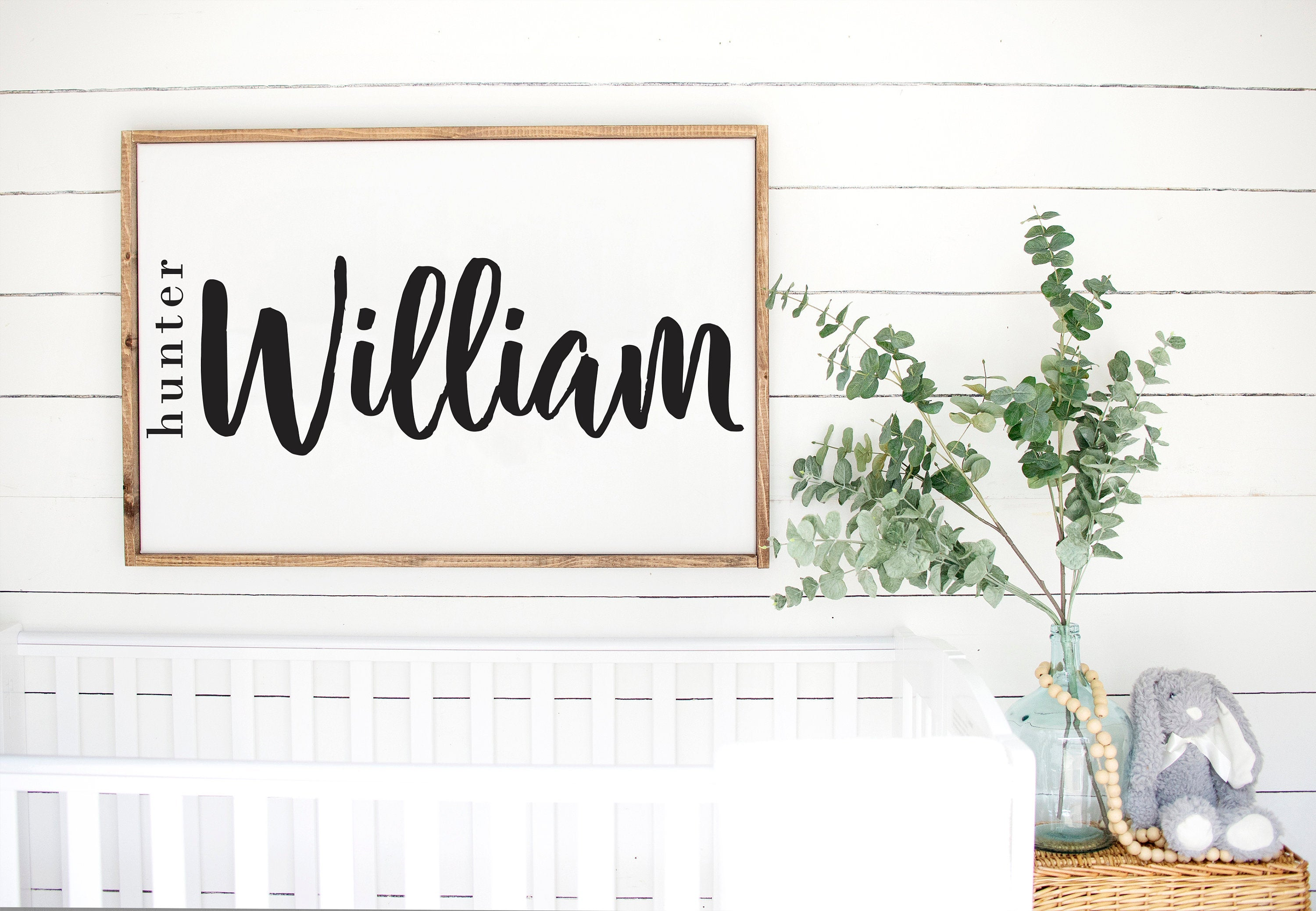 Large Middle Name Nursery Sign
