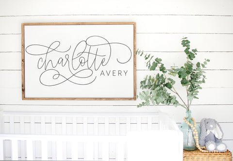 Large Custom Nursery or Kids Name Sign