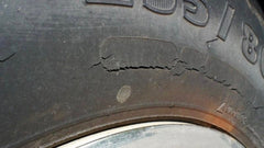 Tire Dry Rot example