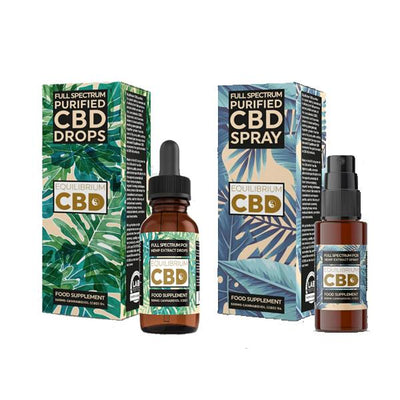 Equilibrium CBD Purified Range 500mg CBD Oil 10ml - Spray / Dropper Bottle
