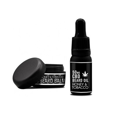 NKD 150mg CBD Twin Pack Honey Tobacco Beard Oil and balm