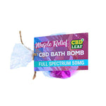 CBD Leaf 100mg CBD Bath Bomb - Muscle Relief