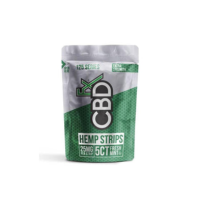 CBDFX 125mg CBD Sublingual Strips - Fresh Mint
