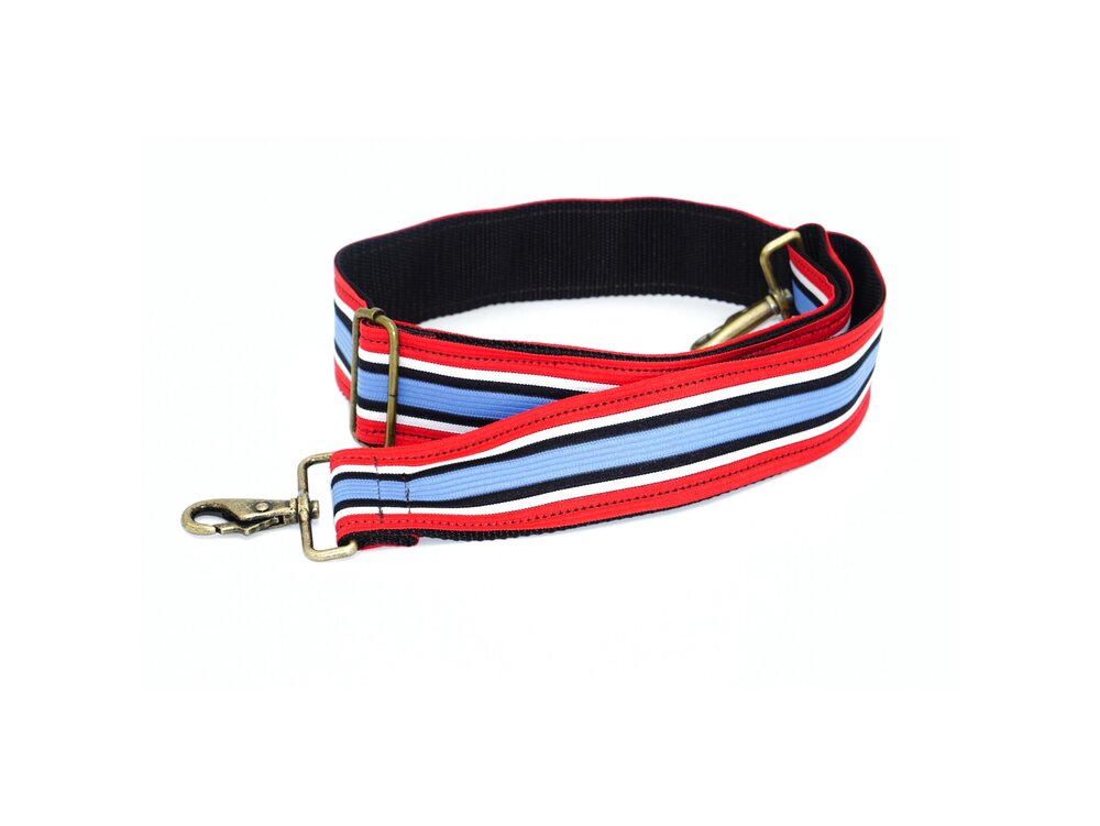 Vintage Trim Strap - Red, White and Blue Stripe