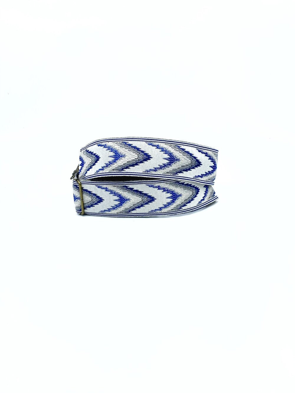 Vintage Trim Strap - Blue Chevron