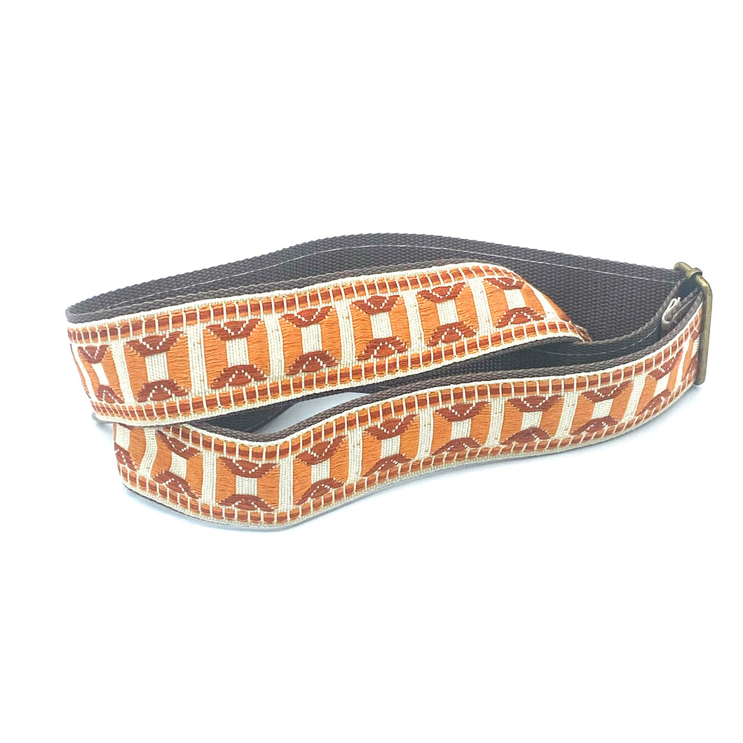 Vintage Trim Strap - orange and rust