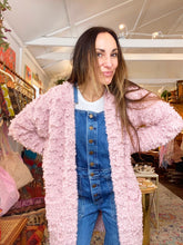 Load image into Gallery viewer, Fringe long sleeve cardigan - mauve